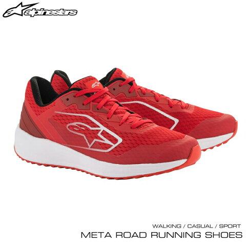 2020年NEWモデル! アルパインスターズ META ROAD RUNNING SHOES レッド×ホワイト(32) ウォーキング・カジュアル・スポーツシューズ (2654520-32)