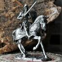 置物 アンティーク風 中世ヨーロッパの錫製 甲冑 騎馬 (剣タイプ)