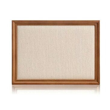 アクセサリースタンド 額縁型 ナチュラル風 イーゼル付き ブラウンの木枠 (ベージュ, 麻布)