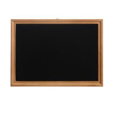 アクセサリースタンド 額縁型 ナチュラル風 イーゼル付き ブラウンの木枠 (ブラック, ベルベット)