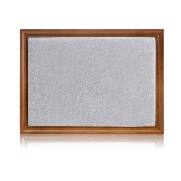 アクセサリースタンド 額縁型 ナチュラル風 イーゼル付き ブラウンの木枠 (グレー, ベルベット)