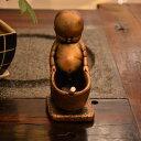 灰皿 しょんべん小僧風 陶磁器 (ブロンズ色)