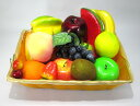 食品サンプル ツヤツヤ フルーツ 果物 16種類セット カゴ入り