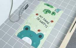 お風呂マット 浴室内マット 洗い場 吸盤付き アニメ風 (カエル)