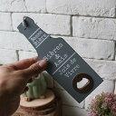 オープナー 壁掛け ビール瓶型 木製 (グレー)