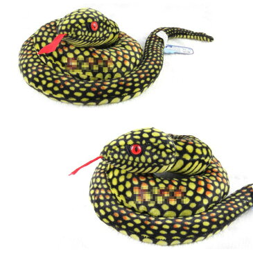 ぬいぐるみ ヘビ 全長80センチ (イエロー)