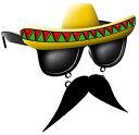 おもしろメガネ メキシコ風 コスプレ