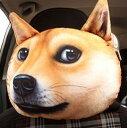 ネッククッション リアル 犬の顔 プリント ダイカット (柴犬)