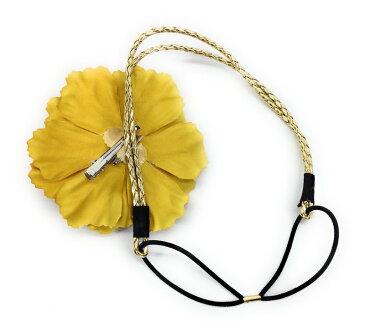 カチューム 大きな牡丹の花付き 華やか ボヘミアン風 (ゴールド)