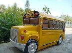 置物 貯金箱 黄色いボンネットバス スクールバス アンティーク風