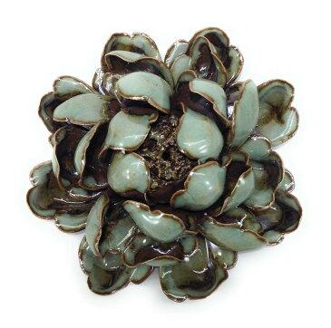 香炉 花びらが美しい蓮の花 和モダン 陶磁器製 スティック用 (開き始め)