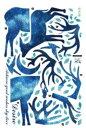 ウォールステッカー 神秘的 ブルーのトナカイ 親子 月 2枚セット 2