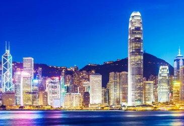 ポスター 夜景 香港 高層ビル群 風景 100万ドルの夜景 (B)