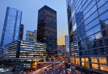 ポスター 夜景 香港 高層ビル群 風景 100万ドルの夜景 (D)