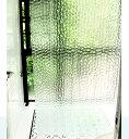 シャワーカーテン 凹凸ガラス風 プリント クリア