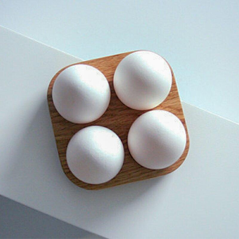 たまごケース木のぬくもり木製ナチュラルキッチン雑貨(4個)