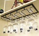 ワイングラスホルダー グラスハンガー 吊り下げ式 シンプル 5列タイプ (ブラック)