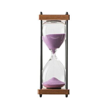 砂時計 ナチュラル 黒い細枠 スタイリッシュデザイン 30分計 (パープル)