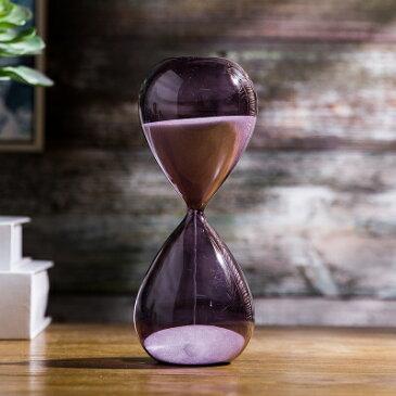 砂時計 30分計 色付きガラス 枠なし (パープル)
