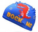スイムキャップ 水泳帽 キッズ カラフルプリント ボーイズ (怪獣) 【送料無料】