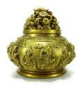 香炉 五路財神 伝統的な中国の縁起物 アンティーク風 1