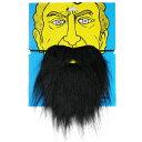 【在庫処分セール】コスプレ モッサリしたヒゲ ゴム付き (黒髭) 【送料無料】
