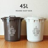 ゴミ箱 ふた付き 丸型 45 リットル 大容量 分別 屋外 収納 おしゃれ キッチン プラスチック 生ゴミ 日本製 ( 丸型カラーペール 45L )