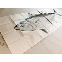 マグロ実物大写真マグロ釣り針2点セット珍物