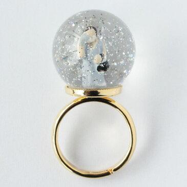 【送料無料】lilldesignlabSnow Globe Ringスノーグローブリング友人D