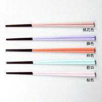 にっぽん伝統色箸桃花色/藤色/柿色/藍白/桜色