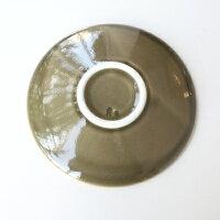 essence樹の音工房渕縞皿Mサイズ〈オリーブ〉
