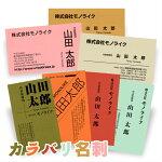 50枚カラバリ名刺オリジナル作成モノライク