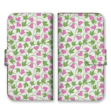 手帳型 全機種対応 ケース SIMフリー対応 スマホ スマートフォン iPhone11 X/XS Max SE2対応ケース ハート 花柄 総柄 可愛い 葉っぱ 自然 フラワー キュート メルヘン 乙女 植物 カラフル ポップ 黄 イエロー 桃色 ピンク set12081