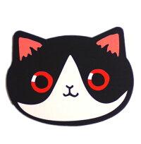 携帯ミラーネコフェイスアニマルミラー鏡ネコちゃん猫ねこ携帯ケースミラー