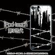 かっこいい有刺鉄線(ブラック)-iPodtouch5ケース