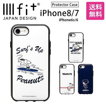 ピーナッツ IIIIfit イーフィット iPhone8 iPhone7 4.7インチモデル対応 耐衝撃 スヌーピー PEANUTS ホワイト ネイビー スマホカバー | ケース iphone かわいい スマホケース iphone7ケース キャラクター おしゃれ iphoneケース グッズ アイフォン8 iiifit スマホ カバー 8 7