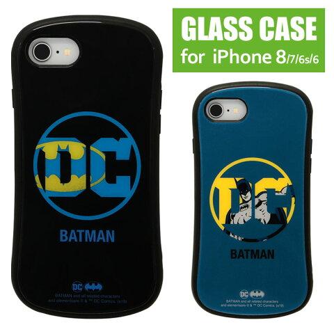BATMABN ハイブリッドケース iPhone8 ガラスケース バットマン DC ロゴ アメコミ 高硬度 9H ヒーロー オシャレ ケース グッズ アイホン8 | かわいい iphoneケース アイフォン8 アイフォンケース 第2世代 アイフォンse2 アイホンse2 iphonese 第二世代 スマホケース se
