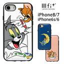 トムアンドジェリー IIIIfit iPhone8 iPhone7 ケース トム ジェリー スマホケース キャラクタ……