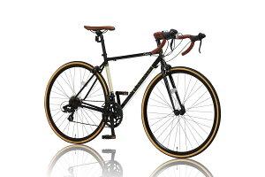 ロードバイク クロスバイク マウンテンバイク 自転車 カノーバー(CANOVER) ロードバイク 自転車 14段変速 クロモリフレーム Tourney デュアルコントロールレバー CAR-013 ORPHEUS ブラック/レッド