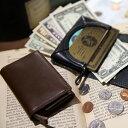 【送料無料】SMALLET2 手のひらサイズで小銭も入る三つ折り財布 スモーレット2 ブラック/ブラウン 栃木レザー 革 男性 メンズ コンパクト 小さい ミニ財布 コイン収納 プレゼント ギフト 贈り物 誕生日 こだわり