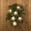 【送料無料】SPARKLE リース スワッグ LED オーナメント ストリングライト インテリア 北欧 イルミネーション デコレーション パーティー 飾りつけ 電飾 USB 電池 クリスマス 星 STAR 光 おしゃれ かわいい ギフト プレゼント 贈りもの スパークル