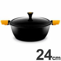 キャスティ IH対応 両手鍋 キャセロール 深型 24cm