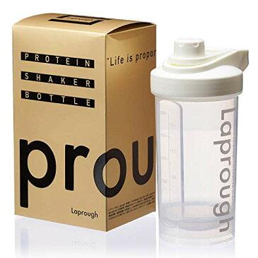 Laprough ラプロフ プロテイン シェイカー BPAフリーボトル 500ml 【12ヶ月保証】 SHK (ホワイト)