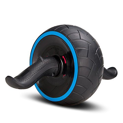 COVVY 腹筋ローラー エクササイズローラー アブホイール リバウンド機能 自動回弾 腹筋器具 腹筋トレ 超静音 多角度回転 安定 滑り止め 全身部位適用 取り付け簡単 耐荷重500kg 膝マット付き 男女兼用 (ブルー)