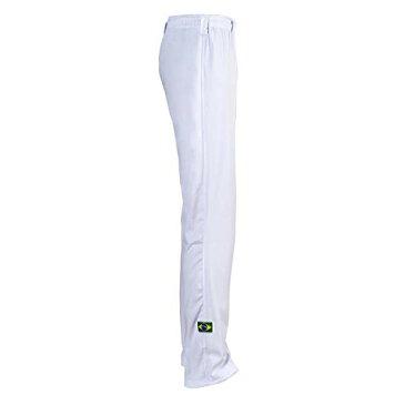 JL Sport 本物 ブラジリアン カポエイラ 格闘系 パンツ ユニセックス (ホワイト) US サイズ: Small (28-30) カラー: ホワイト