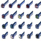 全20色・好みのジュエルがきっと見つかるブルーカラーコーティングジュエルインターナルスレッドラブレットスタッズ【16G(1.2mm)】BPLT-44/キラキラ/シンプル■ボディピアス/ボディーピアス■耳たぶ■軟骨■イヤロブ■ヘリックス■インターナリー/10P04Jul15