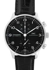 IWCIW371447ポルトギーゼクロノグラフSS黒文字盤自動巻レザー