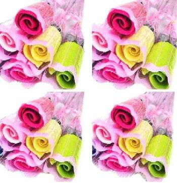 結婚式プチギフトバラ花束タオルギフト30本包装付き披露宴飾りハンカチ結婚パーティー二次会退職プレゼントこども子供会【送料無料】tak-a41