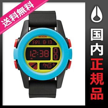 【2015SPRINGモデル】ニクソンNIXON腕時計UNITBLACK/BLUE/CHARTREUSEメンズ