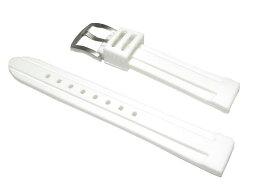 18mm 時計ベルト バンビ シリコンラバー バンドBG007W-P ホワイト【送料無料 ネコポスにて発送】